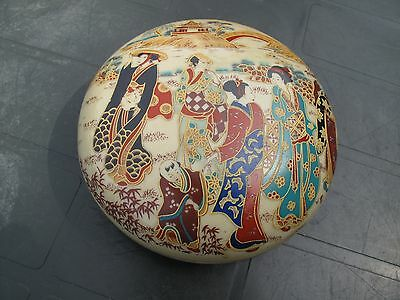 Vintage Oriental Chinese/Japanese Lidded Box Pot Qianlong Marked