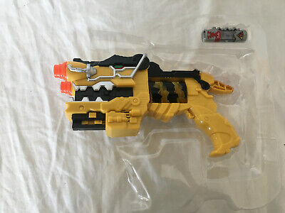 Power Ranger Dino (Power Rangers Dino Charge Yellow Morpher Blaster Gun with Charger New in)