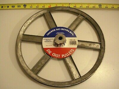 0469. Die Cast Pulley 12 Dia. 12 Bore V-belt A 6-spokes