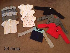 Vêtements garçon 24 mois