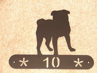 PUG METAL HOME ADDRESS SIGN HOUSE  DECOR PLAQUE DOG](Pug Decor)