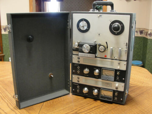Vintage Roberts Model 770X Tape Recorder Reel To Reel Player TESTED w/Manual etc