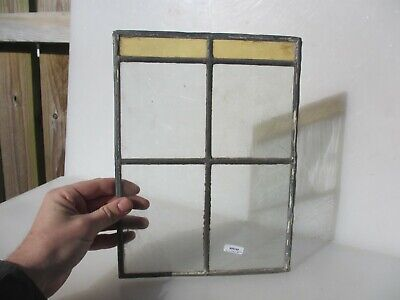 Vintage Stained Glass Window Panel Old Ornate  8.75