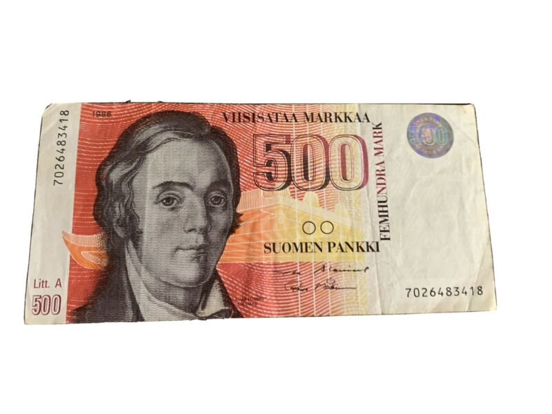 FINLAND  - 500 MARKKAA   1986   P.120 Circulated