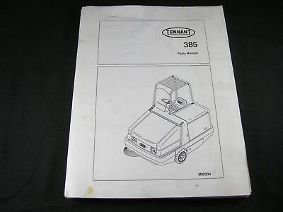 Tennant 385 Industrial Rider Floor Sweeper Parts Manual Book Catalog List