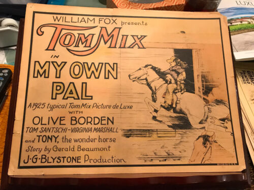 My Own Pal 1925 Fox silent title lobby card Tom Mix Virginia Marshall train