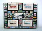 Briefmarken mit Eisenbahn-Motiven als Sammlung