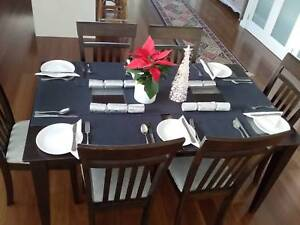 Dining table and six chairs good condition