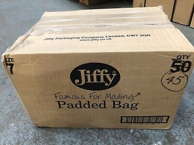 JIFFY ENVELOPES Bubble Padded Mailing Bags Size 7 Approx 40