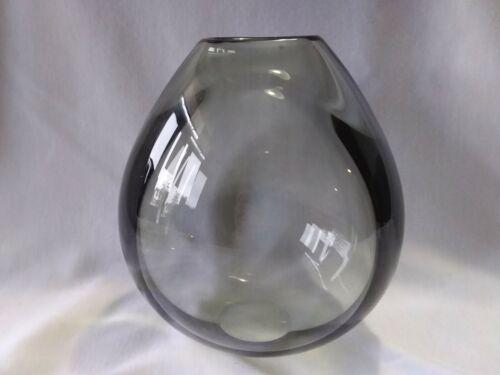 Holmegaard Vase Smokey Glass Signed Per Lutken PL15480