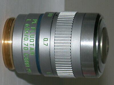 Leica Pl Fluotar L 63x0.70 Ph 2with Corr.collar Microscope Objective. M25.