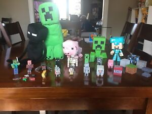 Mine craft toys and stuffies