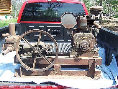 Antique Fairbanks Morse Water Piston Pump Hit Miss Engine Era Carriage & Motor