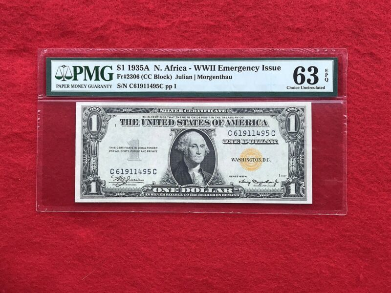 FR-2306 1935 A Series North Africa WWII $1 Silver Certificate *PMG 63 EPQ*