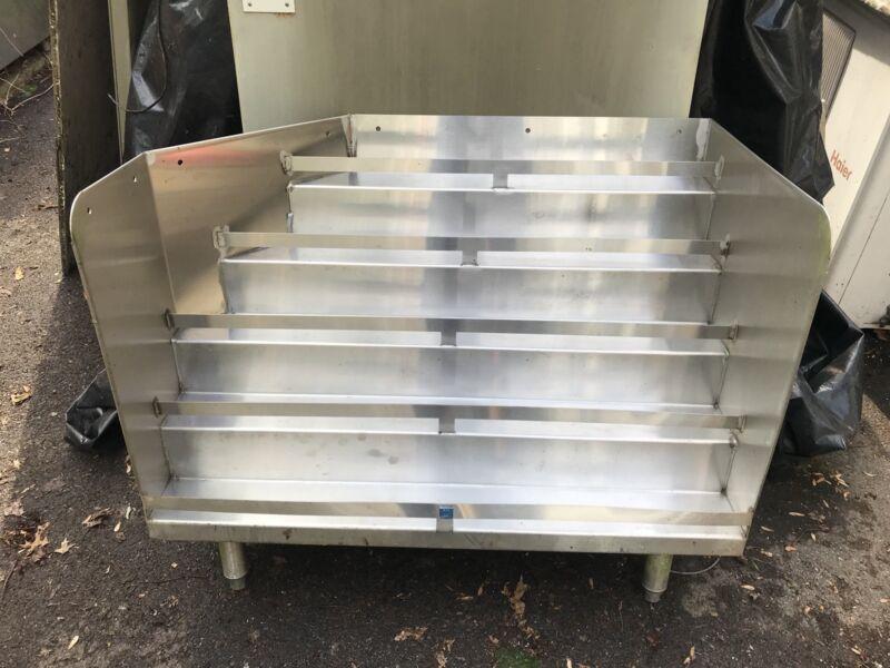 Custom Made Stainless Steel Underbar Liquor Bottle Display 5 Tier Used