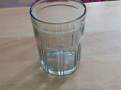 Vintage Arcade Crystal Coffee Grinder Glass Catch Cup Signed Bottom - Original