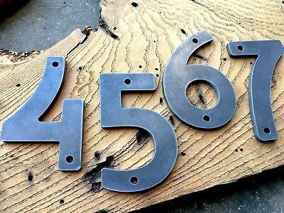 Iron Metal Steel Home Address House Numbers Industrial Modern Vintage Rustic