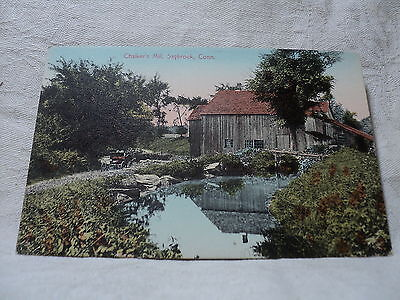 SAYBROOK  CT Connecticut Chalker's Mill early 1900's Postcard