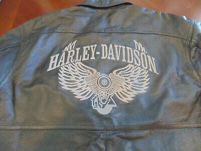 NEW Harley-Davidson 1/2 Zip Distressed Leather  Shirt Jacket  Medium/Large