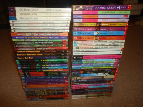 Lot 68 Children's Chapter Books 4th 5th 6th Grades Ghost Writer Young Royals