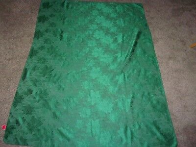 green Christmas Make the Season Bright poinsettia tablecloth 70