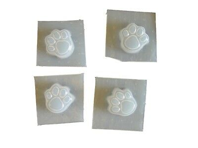 Mini Dog Cat Paw Print Footprint Soap Mold Set of 4 -  4662 Moldcreations