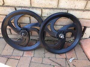 "Matrx Tuffs Black 20"" inch black (free wheel) for a BMX bike"