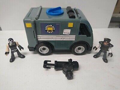 Imaginext DC Gotham City Swat Van W Bane & Officer COMPLETE