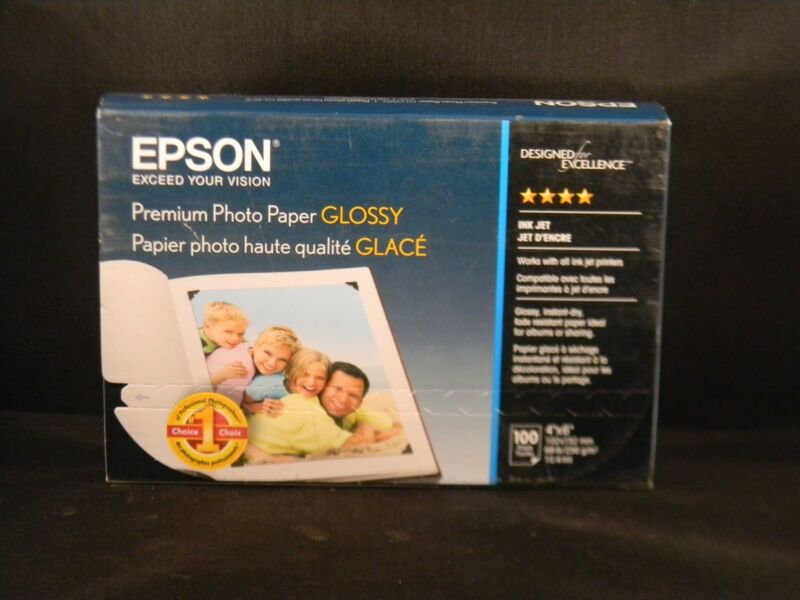 "Epson 100-Pack 4"" x 6"" Premium Glossy Photo Paper S041727"