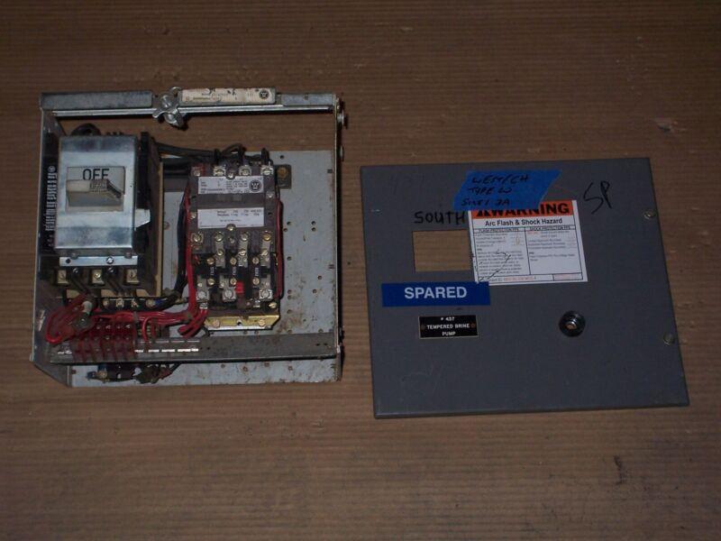 WESTINGHOUSE CUTLER HAMMER TYPE W SIZE 1 STARTER 3 AMP BREAKER MCC BUCKET DOOR