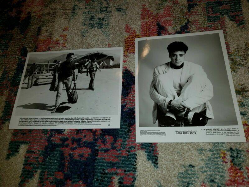 Robert Downey Jr. Movie 8 x 10 B&W Photos: Air America  & Less Than Zero 87 & 90