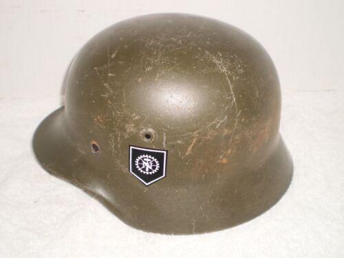 German M40/55 steel helmet with TENO decal, size 64