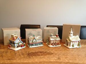 Ceramic Candle Christmas Village Decor