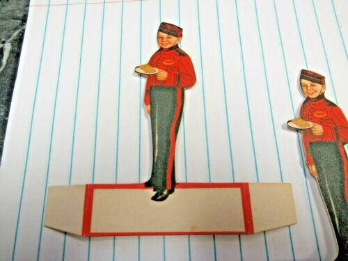 1 Antique Johnny the Bellboy Bellhop Call For Philip Morris Ephemera Place Card