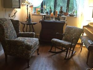 Antique Rocking chair with single couch
