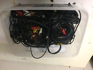 Sterio and video cables and connectors