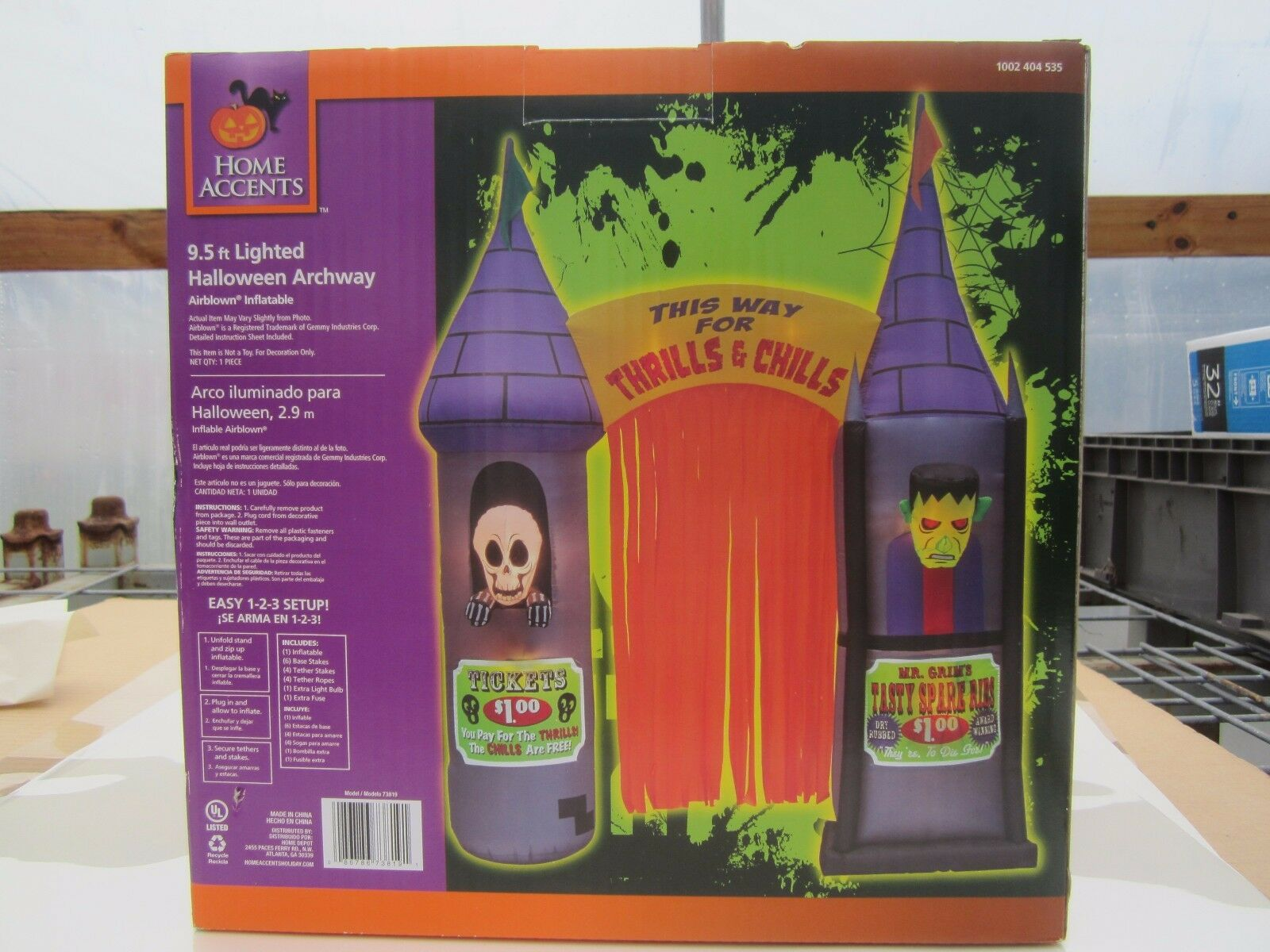 Home Accents Holiday 9.5 Ft. Halloween Inflatable Archway Horrors House Decor