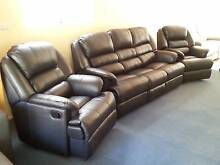 *BRAND NEW* Savoy Leather Lounge with Recliners Pialba Fraser Coast Preview