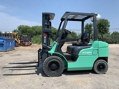 2013 Caterpillarmitsu 5000 Lb Lpggas Pneumatic Forklift-we Willship-lowhours