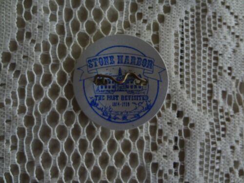 Vintage Stone Harbor NJ New Jersey beach tag badge 80