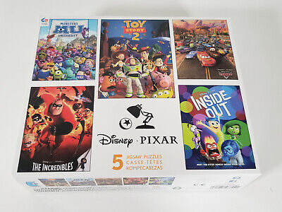 Disney Pixar 5-in-1 Puzzles Toy Story 2 Cars Inside Out Incredibles Monsters Uni