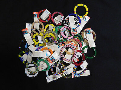 Wholesale Maasai Beaded Bracelets African Fair Trade Handcrafted Lot of 10 New!