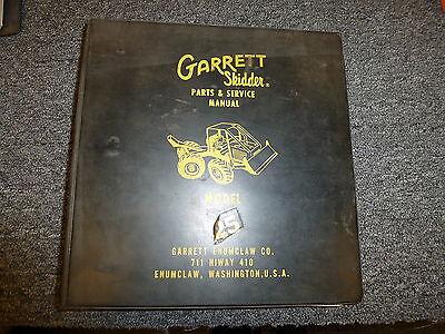 Garrett Model 25 Skidder Loader Logging Forestry Parts Catalog Manual Book