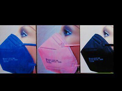 9 FFP2 Masken Maske Atemschutz blau schwarz rosa pink 5 lagig 2834 CE Neu