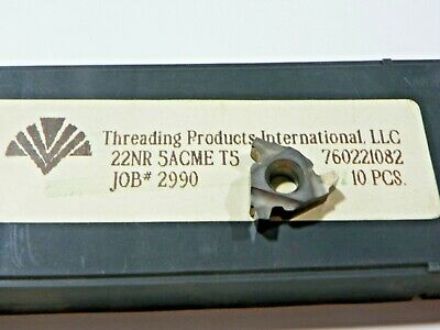 10 Pieces Tpi 22nr 5acme T5 Carbide Inserts  F541
