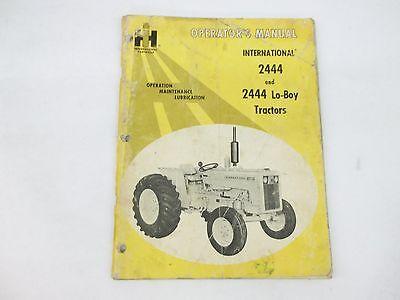 International Harvesterl Model 2444 2444 Lo-boy Operators Manual