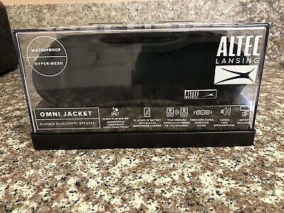 BRAND NEW, Altec Lansing Omni Jacket Wireless NFC Waterproof Speaker BLACK