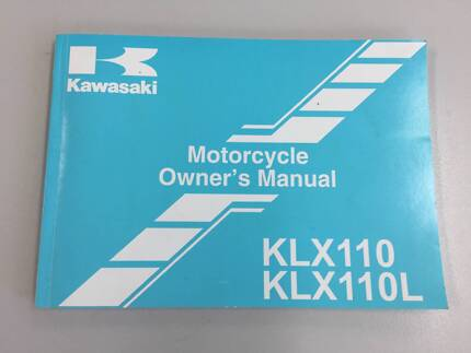 Owners Manual - Kawasaki KLX110 / KLX110L