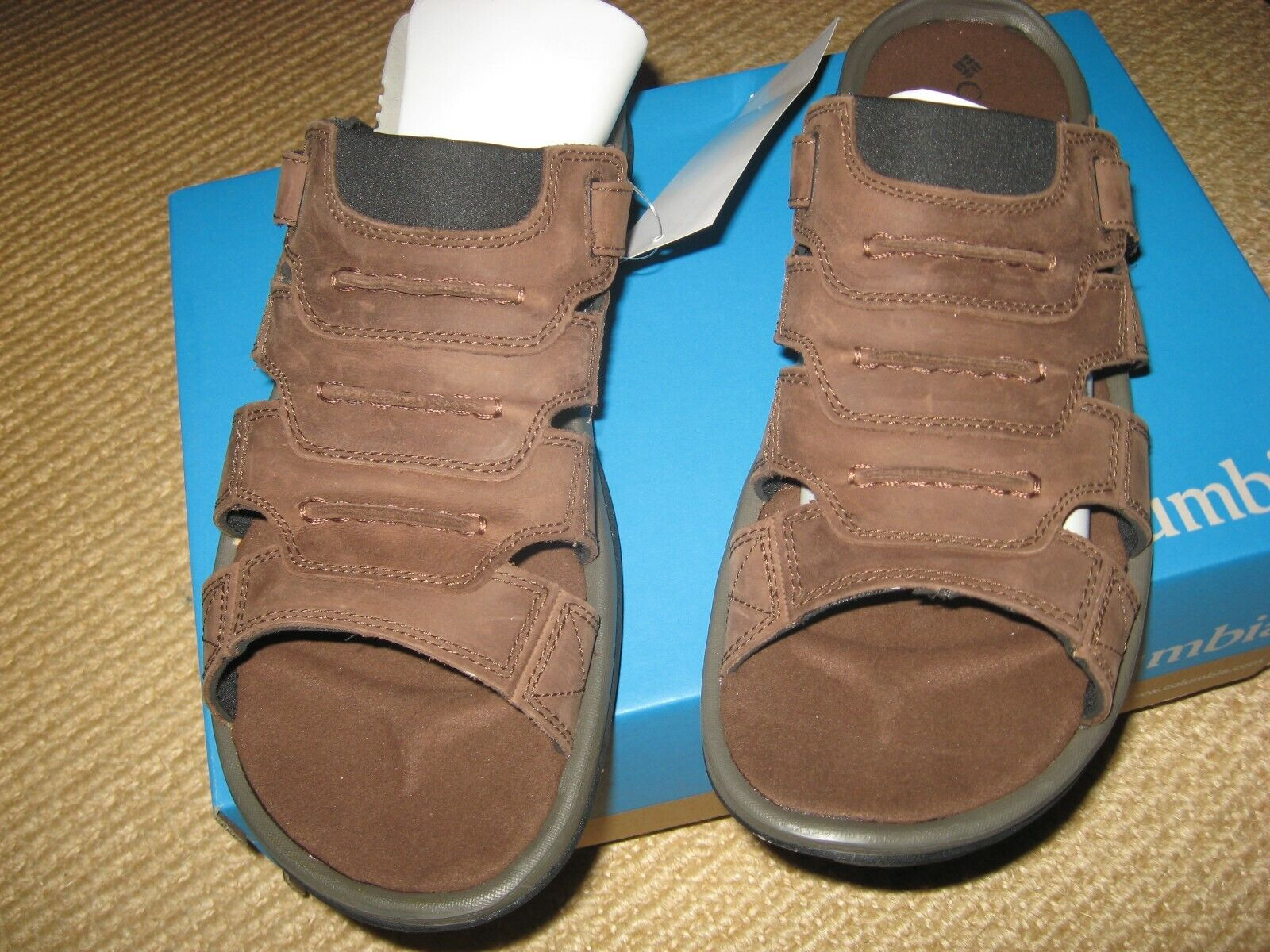 NWT* MENS COLUMBIA BRAND - LEATHER SANDALS * SIZE 9 1