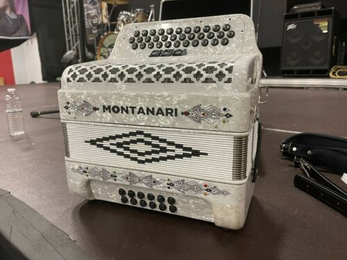 Montanari 3412 FBE 3 Switch White Accordion